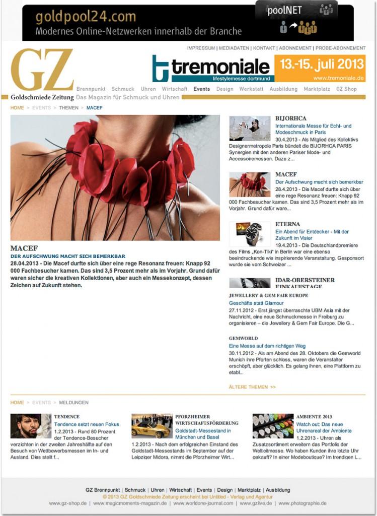 GZ Goldschmiede Zeitung - 2013