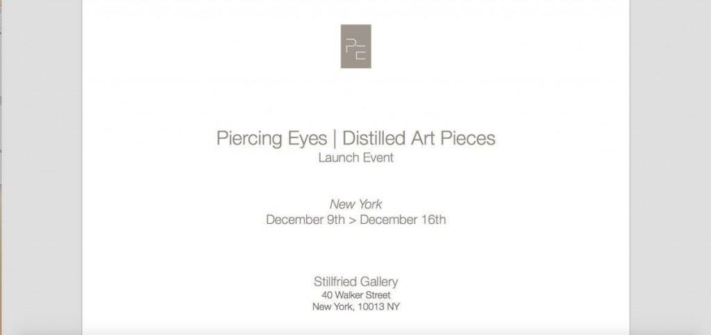 Piercing Eyes/Distilled Art Pieces, New York - 2015