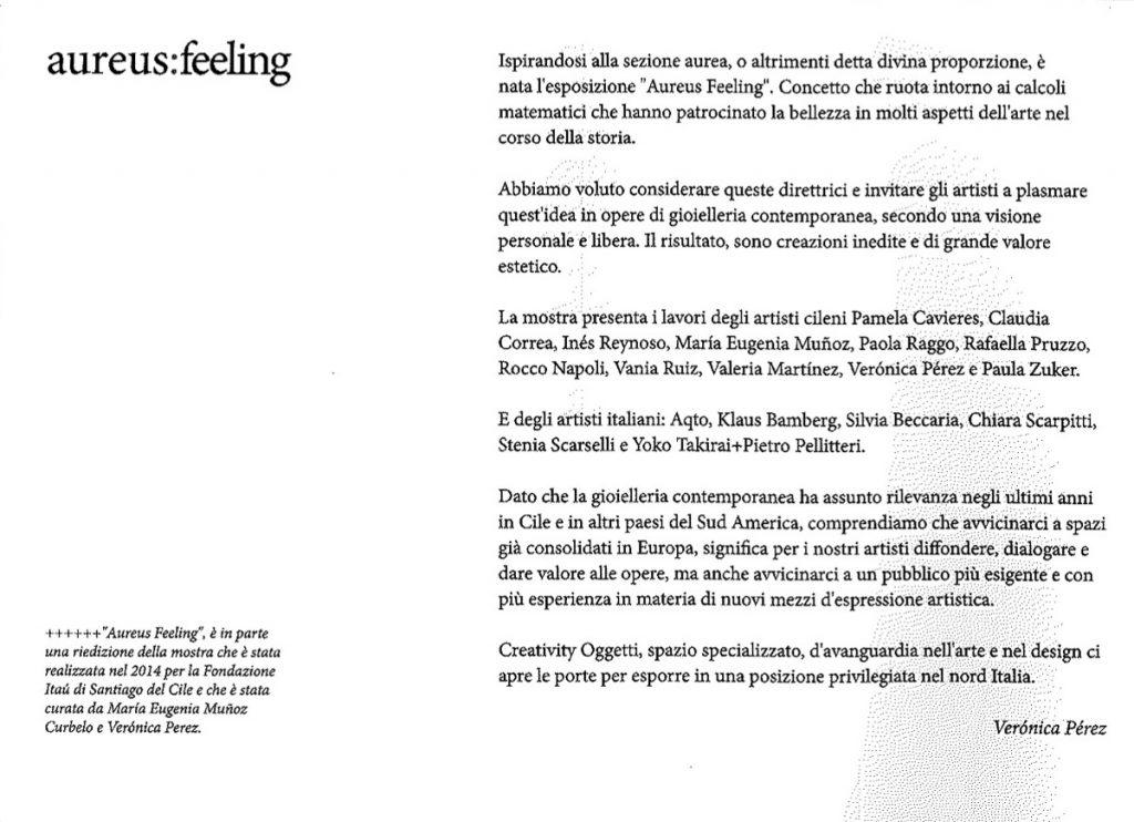 Aureus:feeling - 2016